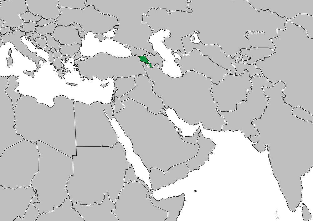 Weltkarte Armenien Frieden Fragen