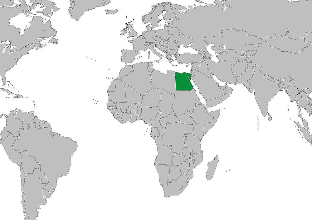 Weltkarte Aegypten Frieden Fragen