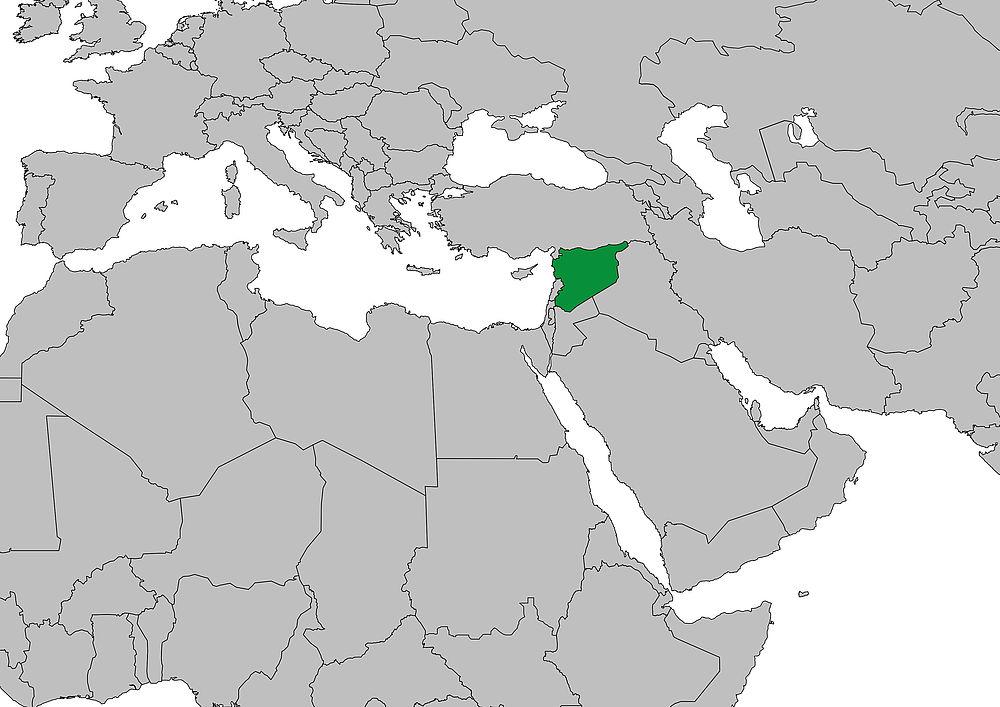 Karte Syrien.Weltkarte Syrien Frieden Fragen