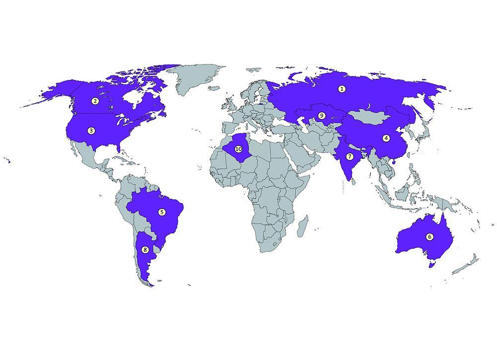 Die 10 Grossten Lander Der Erde Frieden Fragen