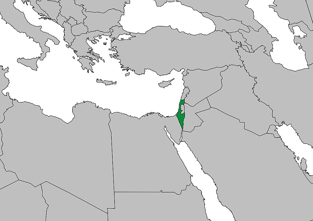 Karte Naher Osten Israel.Weltkarte Israel Frieden Fragen