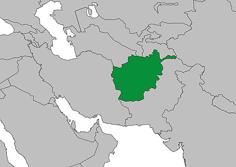 Weltkarte Afghanistan | FRIEDEN FRAGEN